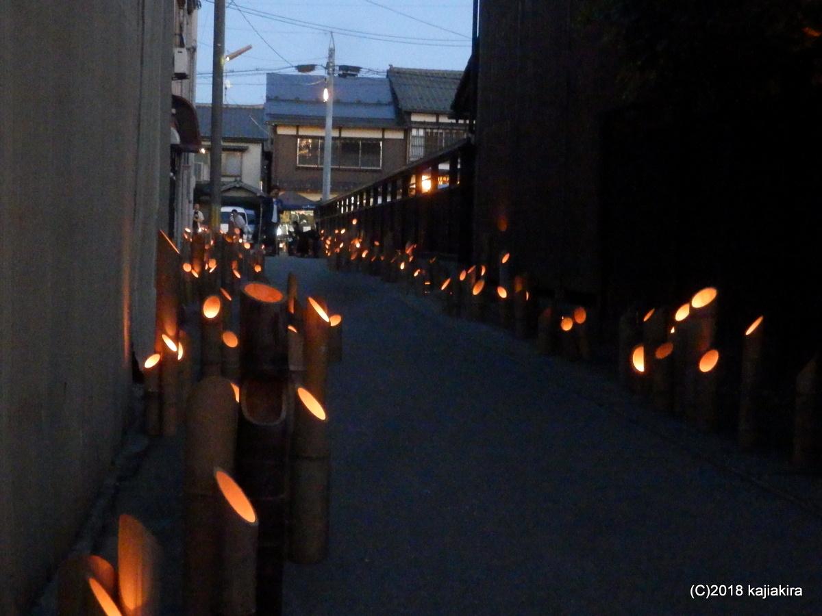 むらかみ宵の竹灯籠まつり2017(新潟県村上市)