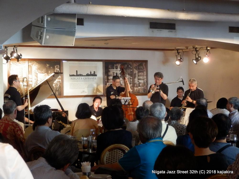 リバーサイド・ジャズバンド+TonTon(vo) @ジョイアミーア☆第32回新潟ジャズストリート