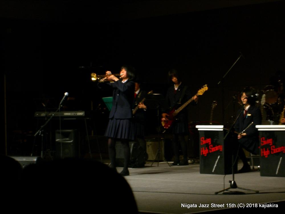 新発田高校ブラスバンド部@市民プラザ( NEXT21 6F) ★第15回新潟ジャズストリート