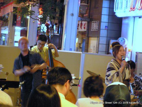 野波桃Qartet featuring みついさくら@ストリート(古町6)★第12回新潟ジャズストリート